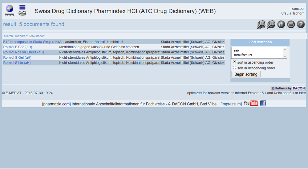 Marketing Authorisation Holder Drug Dictionaries 7
