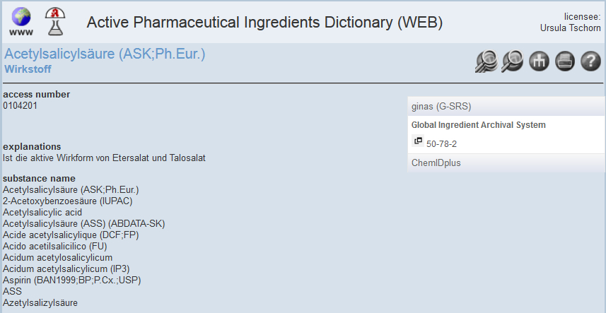 Active Pharmaceutical Ingredients Dictionary 2
