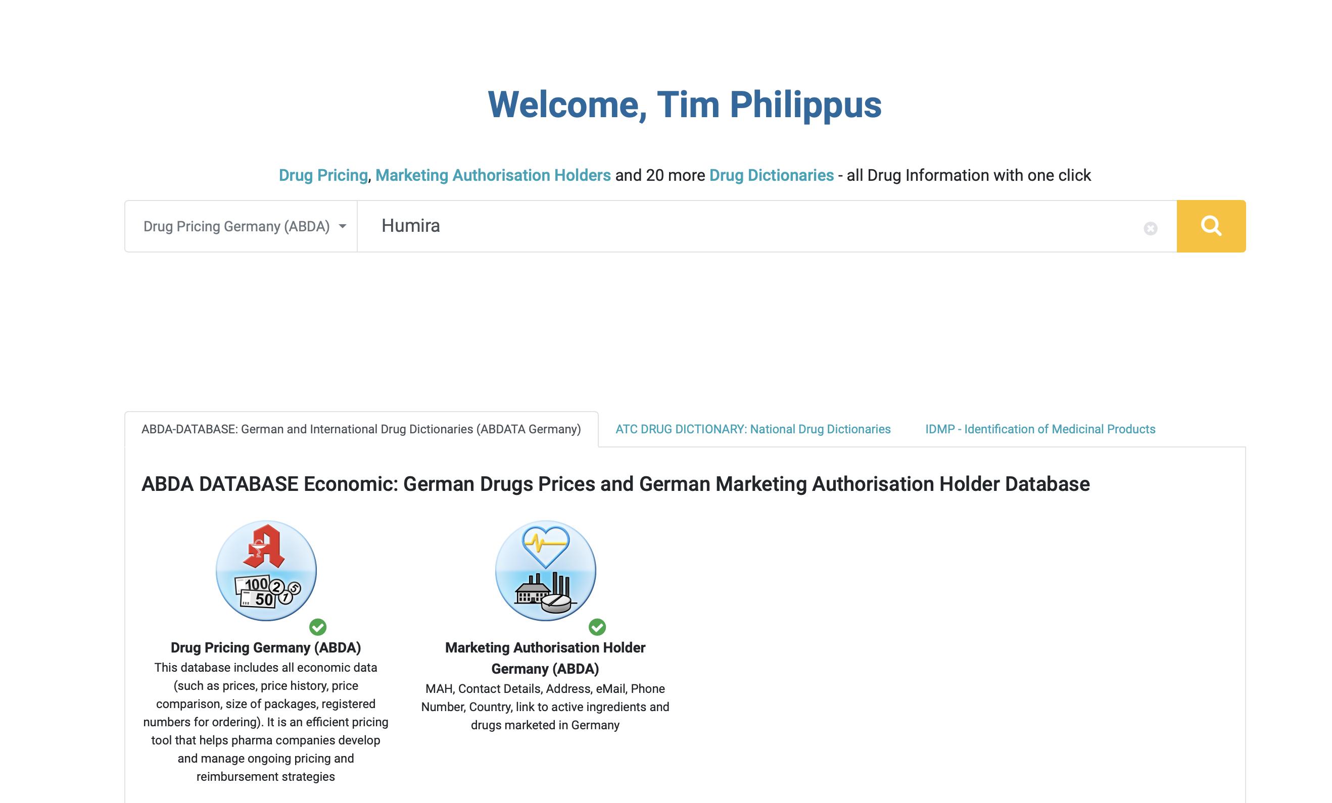 Pharmaceutical Pricing Database Tool